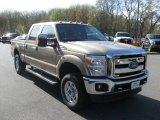 2012 Pale Adobe Metallic Ford F250 Super Duty XLT Crew Cab 4x4 #80785612