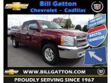 2013 Deep Ruby Metallic Chevrolet Silverado 1500 LT Extended Cab 4x4 #80785588