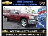 2013 Deep Ruby Metallic Chevrolet Silverado 1500 LT Crew Cab 4x4 #80785587