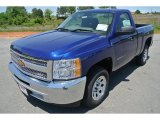 2013 Blue Topaz Metallic Chevrolet Silverado 1500 Work Truck Regular Cab #80838303