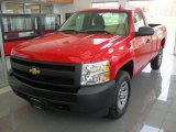 2008 Victory Red Chevrolet Silverado 1500 Work Truck Regular Cab 4x4 #80838290
