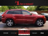 2014 Deep Cherry Red Crystal Pearl Jeep Grand Cherokee Overland 4x4 #80837842