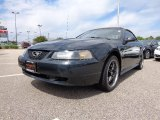 1999 Dark Green Satin Metallic Ford Mustang V6 Convertible #80837813