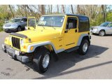 2001 Jeep Wrangler Solar Yellow