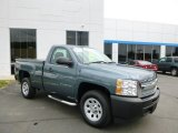 2012 Blue Granite Metallic Chevrolet Silverado 1500 Work Truck Regular Cab #80838013