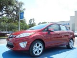 2013 Ruby Red Ford Fiesta Titanium Sedan #80894976
