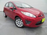 2013 Ruby Red Ford Fiesta SE Hatchback #80895218