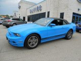 2013 Grabber Blue Ford Mustang V6 Premium Convertible #80895201