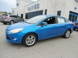 2012 Blue Candy Metallic Ford Focus SEL Sedan #80895195