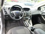 2012 Ford Focus SEL Sedan Charcoal Black Interior