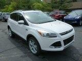 2013 White Platinum Metallic Tri-Coat Ford Escape Titanium 2.0L EcoBoost 4WD #80895020