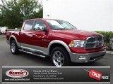 2009 Inferno Red Crystal Pearl Dodge Ram 1500 SLT Crew Cab 4x4 #80948327