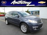 2013 Atlantis Blue Metallic Chevrolet Traverse LT AWD #80970841