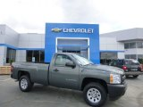 2011 Steel Green Metallic Chevrolet Silverado 1500 Regular Cab 4x4 #80970521