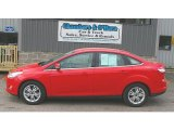 2012 Race Red Ford Focus SEL Sedan #80970565