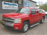 2007 Victory Red Chevrolet Silverado 1500 LT Extended Cab 4x4 #80970562