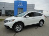 2013 White Diamond Pearl Honda CR-V EX-L AWD #81011746