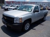 2012 Silver Ice Metallic Chevrolet Silverado 1500 Work Truck Regular Cab #81011225
