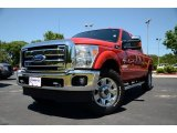 2012 Vermillion Red Ford F250 Super Duty Lariat Crew Cab 4x4 #81011700