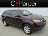 2011 Dark Cherry Kia Sorento LX AWD #81011046