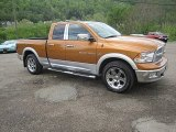 2012 Tequila Sunrise Pearl Dodge Ram 1500 Laramie Quad Cab 4x4 #81076139