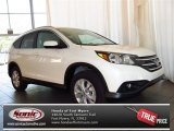 2013 White Diamond Pearl Honda CR-V EX-L #81075645