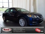2013 Obsidian Blue Pearl Honda Accord EX-L Sedan #81075631