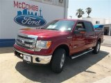 2013 Ruby Red Metallic Ford F150 XLT SuperCrew 4x4 #81075726