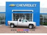 2013 Silver Ice Metallic Chevrolet Silverado 1500 LT Extended Cab 4x4 #81076097