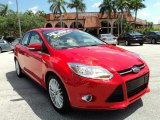 2012 Race Red Ford Focus SEL Sedan #81075789