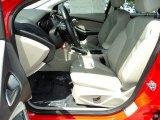 2012 Ford Focus SEL Sedan Front Seat