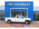 2013 Summit White Chevrolet Silverado 1500 Work Truck Extended Cab 4x4 #81076096