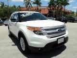 2011 White Platinum Tri-Coat Ford Explorer XLT #81075786
