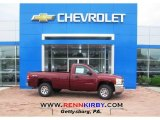2013 Deep Ruby Metallic Chevrolet Silverado 1500 Work Truck Regular Cab 4x4 #81127888