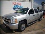 2011 Sheer Silver Metallic Chevrolet Silverado 1500 LS Crew Cab #81127617