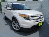 2013 White Platinum Tri-Coat Ford Explorer Limited #81127792