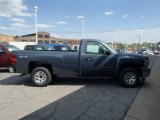 2013 Blue Granite Metallic Chevrolet Silverado 1500 LS Regular Cab 4x4 #81127650