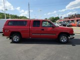 2004 Victory Red Chevrolet Silverado 1500 LS Extended Cab 4x4 #81127647