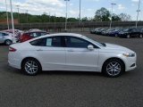 2013 White Platinum Metallic Tri-coat Ford Fusion SE 1.6 EcoBoost #81127643