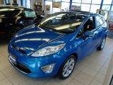 2013 Blue Candy Ford Fiesta Titanium Hatchback #81127642