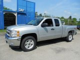2013 Silver Ice Metallic Chevrolet Silverado 1500 LT Extended Cab 4x4 #81170788