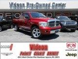 2007 Inferno Red Crystal Pearl Dodge Ram 1500 Laramie Quad Cab 4x4 #81171427