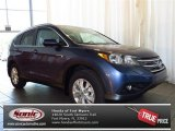 2013 Twilight Blue Metallic Honda CR-V EX-L #81225599