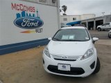 2013 Oxford White Ford Fiesta S Sedan #81245970