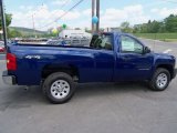 2013 Blue Topaz Metallic Chevrolet Silverado 1500 Work Truck Regular Cab 4x4 #81252945