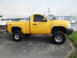 2008 Yellow Chevrolet Silverado 1500 LT Regular Cab 4x4 #81253403