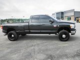 2007 Brilliant Black Crystal Pearl Dodge Ram 3500 Laramie Quad Cab 4x4 Dually #81253402