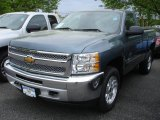 2013 Blue Granite Metallic Chevrolet Silverado 1500 LT Regular Cab 4x4 #81252910