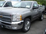 2013 Graystone Metallic Chevrolet Silverado 1500 LT Regular Cab #81252907