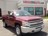 2013 Deep Ruby Metallic Chevrolet Silverado 1500 LS Regular Cab 4x4 #81253278